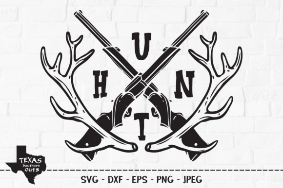 Download Free Hunt Hunting Shirt Design Graphic By Texassoutherncuts for Cricut Explore, Silhouette and other cutting machines.