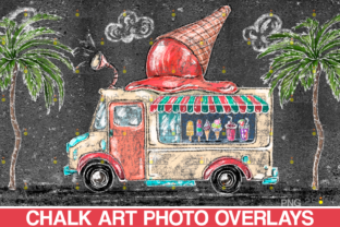 Ice Cream Chalk Art Overlay Photoshop Graphic Illustrations By 2SUNS