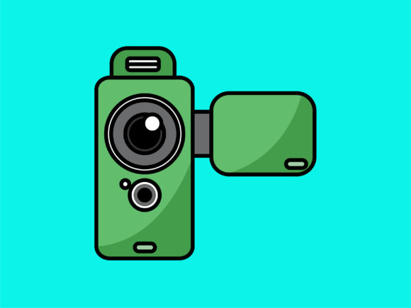 Download Free Icon Camera Handycam Graphic By Meandmydate Creative Fabrica for Cricut Explore, Silhouette and other cutting machines.