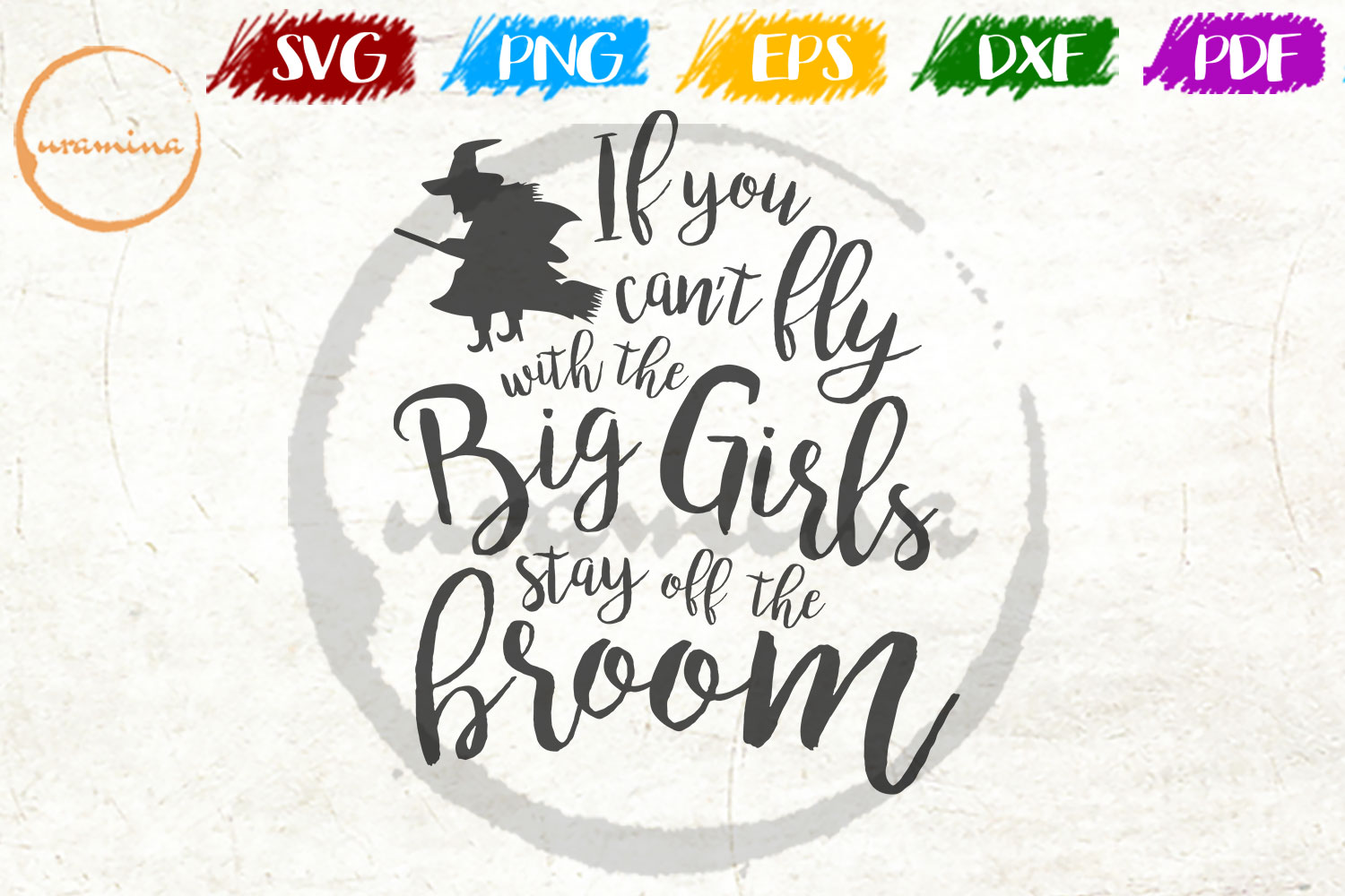 Download Free If You Can T Fly With The Big Girls Stay Graphic By Uramina for Cricut Explore, Silhouette and other cutting machines.