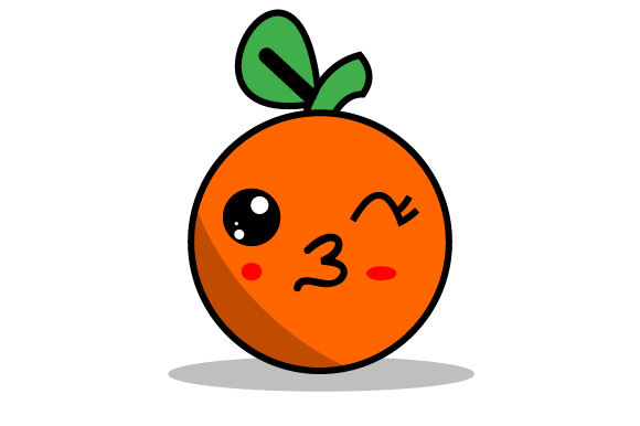 Download Free Illustration Of Funny Orange Fruit Graphic By Yapivector for Cricut Explore, Silhouette and other cutting machines.