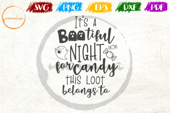 Download Free It S A Bootiful Night For Candy Graphic By Uramina Creative for Cricut Explore, Silhouette and other cutting machines.