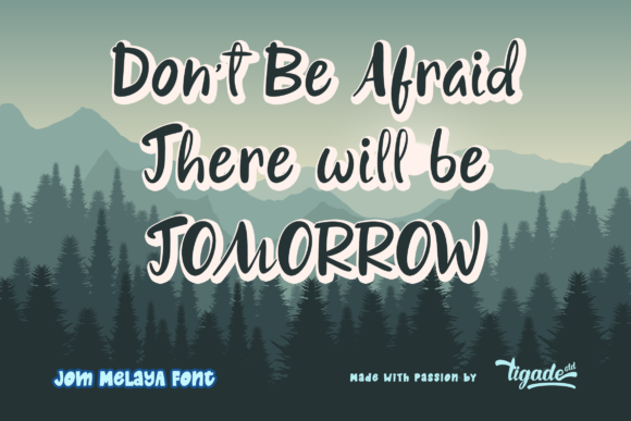 Download Free Jom Melaya Font By Tigade Std Creative Fabrica for Cricut Explore, Silhouette and other cutting machines.