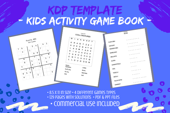 Kids Activity Game Book For Kdp Graphic By Tomboy Designs