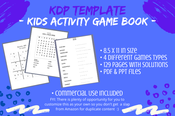 Download Free Kids Activity Game Book For Kdp Graphic By Tomboy Designs for Cricut Explore, Silhouette and other cutting machines.