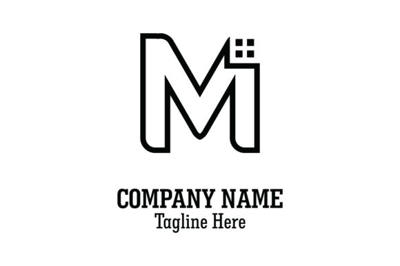 Download Free Lettering M Line Art Logo Vector Graphic By Yuhana Purwanti Creative Fabrica for Cricut Explore, Silhouette and other cutting machines.