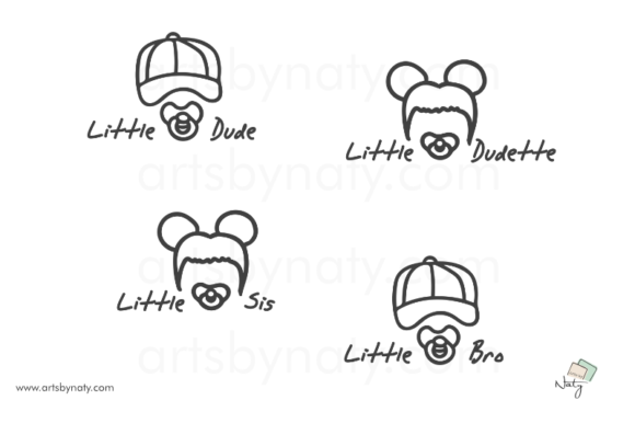 Download Free Little Dudes Baby Cute Illustration Graphic By Artsbynaty for Cricut Explore, Silhouette and other cutting machines.