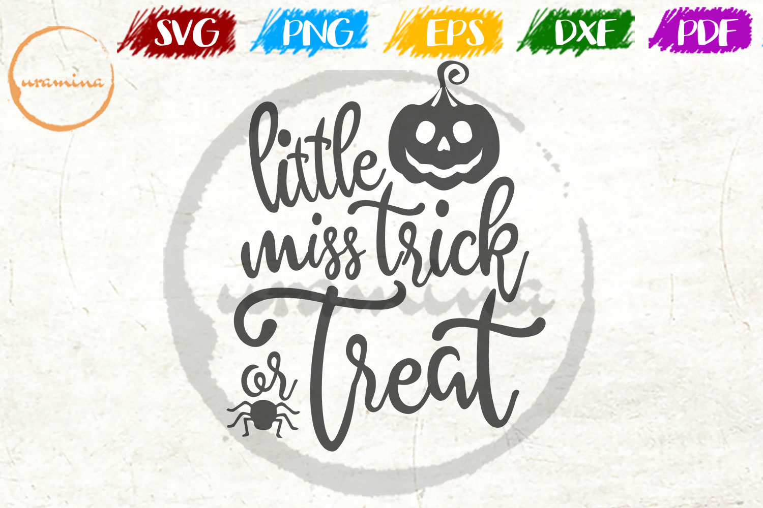 Download Free Little Miss Trick Or Treat Graphic By Uramina Creative Fabrica for Cricut Explore, Silhouette and other cutting machines.