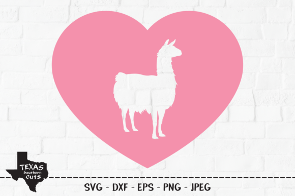 Download Free Llama Heart Llama Shirt Design Graphic By Texassoutherncuts for Cricut Explore, Silhouette and other cutting machines.