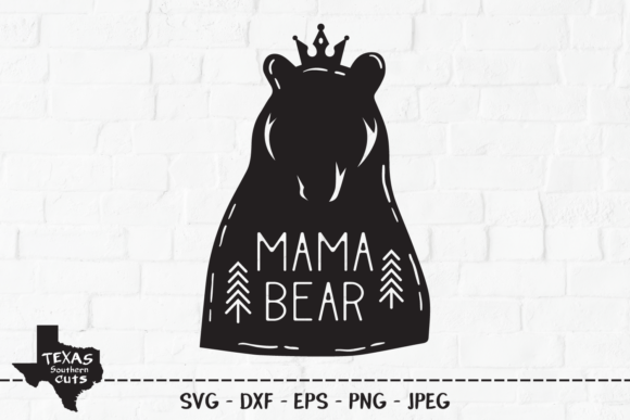 Download Free Mama Bear Woodland Shirt Design Graphic By Texassoutherncuts for Cricut Explore, Silhouette and other cutting machines.