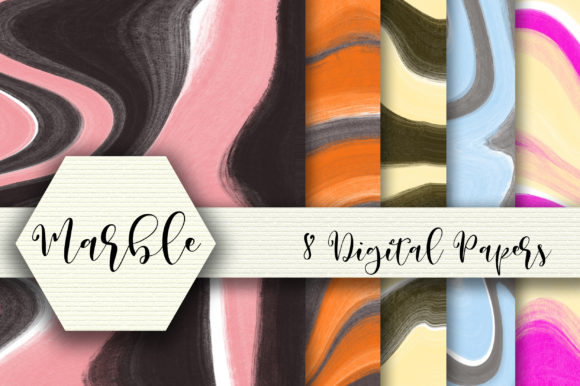 Download Free Marble Texture Digital Papers Graphic By Pearlydaisy Creative for Cricut Explore, Silhouette and other cutting machines.
