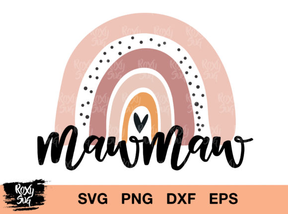 Download Free Mowma Mama Rainbow Graphic By Roxysvg26 Creative Fabrica SVG Cut Files