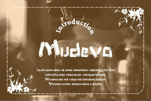 Download Free Mudeva Font By Gblack Id Creative Fabrica for Cricut Explore, Silhouette and other cutting machines.