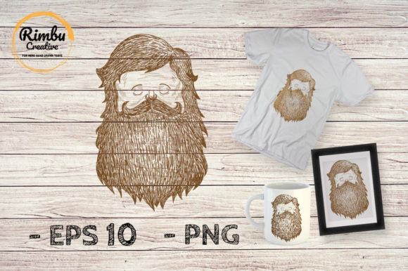 Download Free Mustache And Beard Drawing Illustration Graphic By Rimbu for Cricut Explore, Silhouette and other cutting machines.