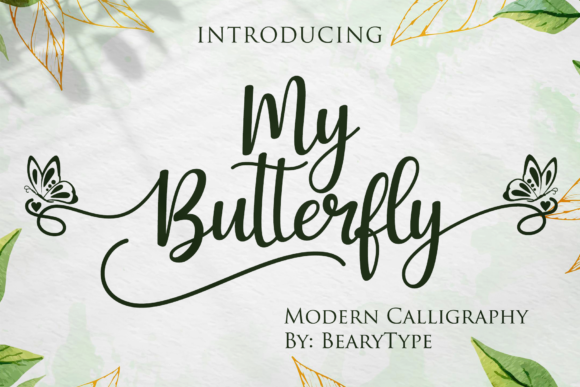 Print on Demand: My Butterfly Script & Handwritten Font By LetterBeary