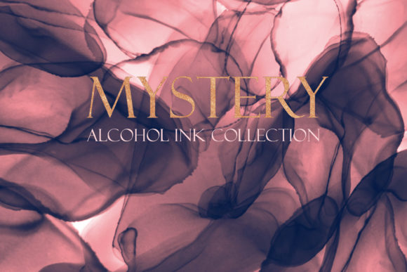 Mystery Fluid Alcohol Ink Collection Graphic Backgrounds By liquid amethyst art