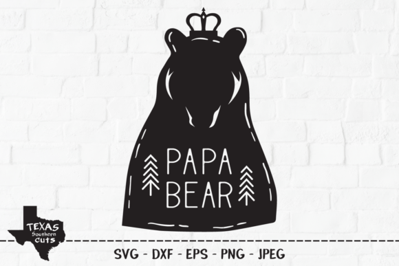 Download Free Papa Bear Woodland Shirt Design Graphic By Texassoutherncuts for Cricut Explore, Silhouette and other cutting machines.