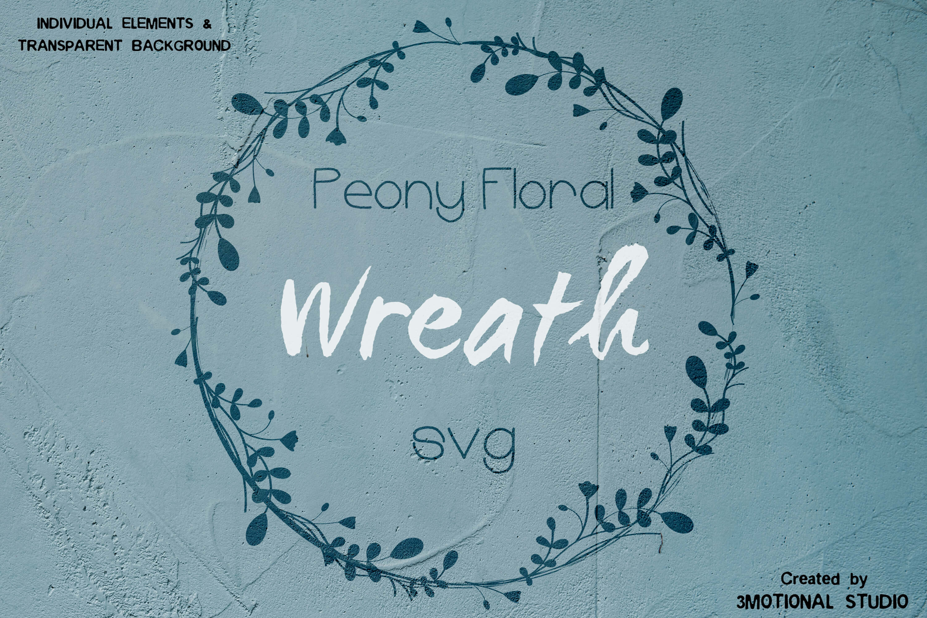 Download Free Peony Floral Wreath Graphic By 3motional Creative Fabrica SVG Cut Files
