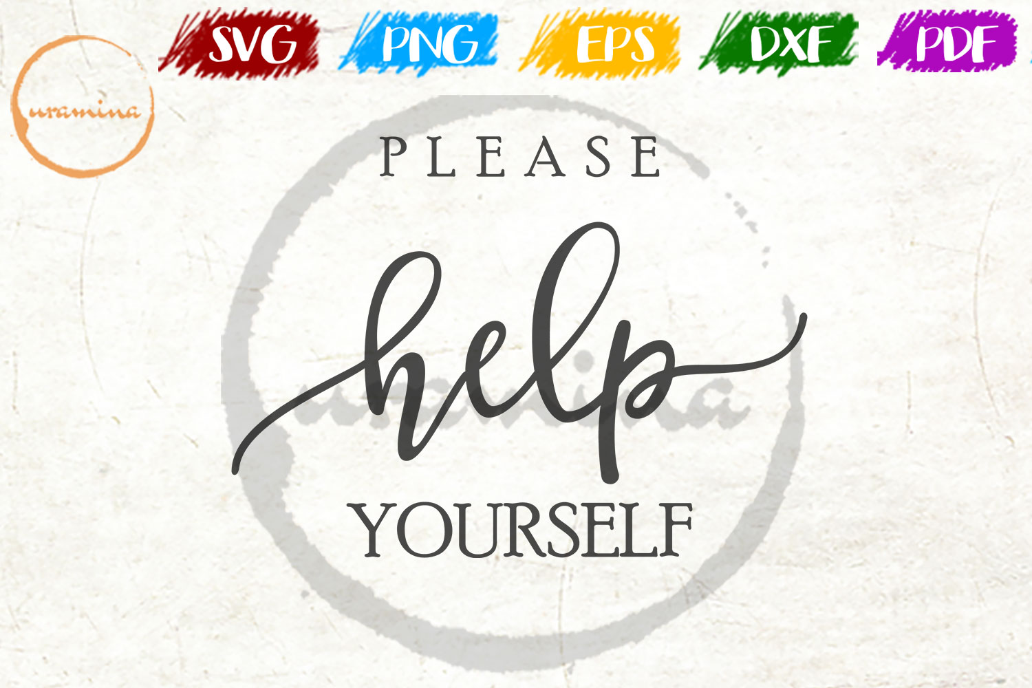 Download Free Please Help Yourself Graphic By Uramina Creative Fabrica for Cricut Explore, Silhouette and other cutting machines.