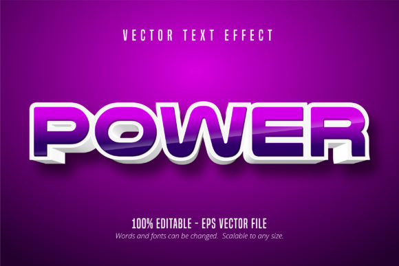 Download Free Power Game Style Editable Text Effect Graphic By Mustafa Beksen for Cricut Explore, Silhouette and other cutting machines.