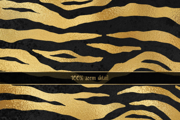Download Free Purple And Gold Tiger Digital Paper Graphic By Digital Curio for Cricut Explore, Silhouette and other cutting machines.