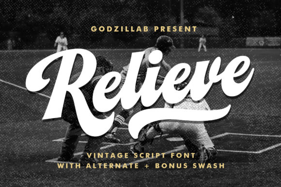 Print on Demand: Relieve Script & Handwritten Font By Godzillab Std.