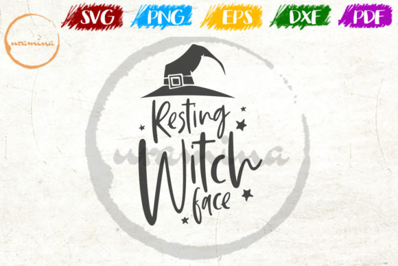 Resting Witch Face Graphic By Uramina Creative Fabrica