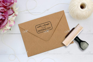 Rubber Stamp & Envelope Mockup Graphic Product Mockups By MaddyZ