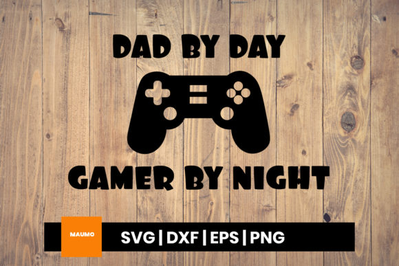 Download Free Gamer Dad Father S Day Quote Graphic By Maumo Designs Creative for Cricut Explore, Silhouette and other cutting machines.