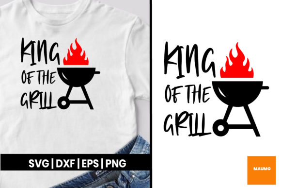 Download Free King Of The Grill Father S Day Graphic By Maumo Designs for Cricut Explore, Silhouette and other cutting machines.