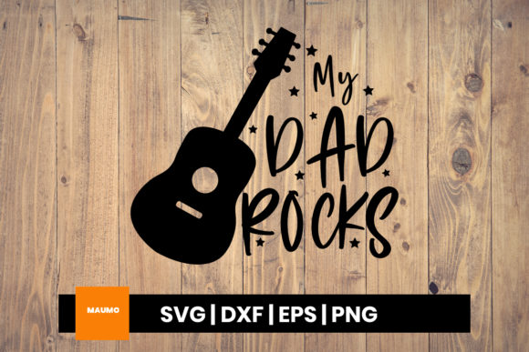 Download Free My Dad Rocks Father S Day Craft Graphic By Maumo Designs for Cricut Explore, Silhouette and other cutting machines.