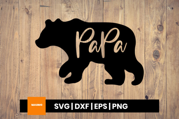 Download Free Papa Bear Craft Graphic By Maumo Designs Creative Fabrica for Cricut Explore, Silhouette and other cutting machines.