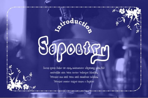 Print on Demand: Sapoetry Display Font By Gblack Id