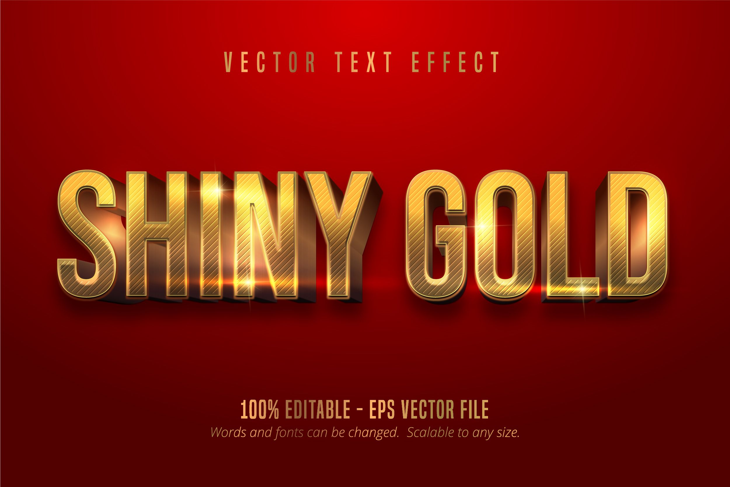 Download Free Shiny Gold Style Editable Text Effect Graphic By Mustafa Beksen for Cricut Explore, Silhouette and other cutting machines.