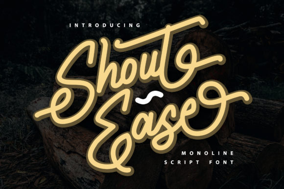 Print on Demand: Shout Ease Script & Handwritten Font By Vunira