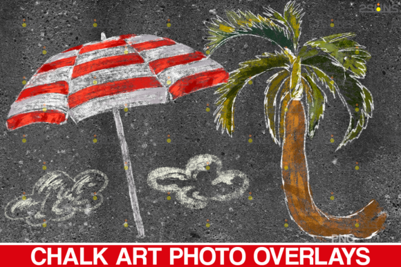 Download Free Sidewalk Chalk Art Overlay Summer Graphic By 2suns Creative for Cricut Explore, Silhouette and other cutting machines.