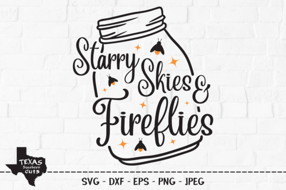 Starry Skies Fireflies Shirt Design Graphic By