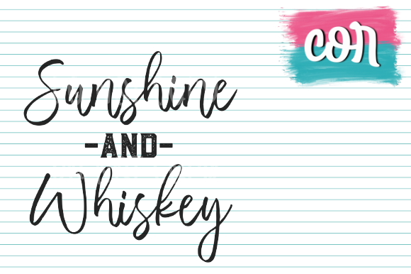 Print on Demand: Sunshine and Whiskey Graphic Crafts By designscor