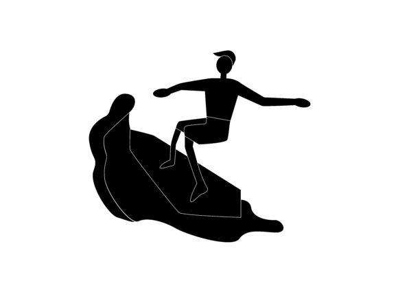 Download Free Surfing Extreme Sport Silhouette Icon Graphic By 1riaspengantin for Cricut Explore, Silhouette and other cutting machines.