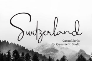 Print on Demand: Switzerland Script & Handwritten Font By Typesthetic Studio