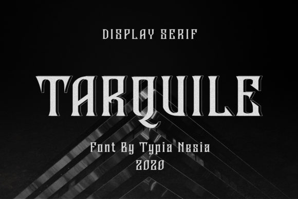 Print on Demand: Tarquile Display Font By Typia Nesia