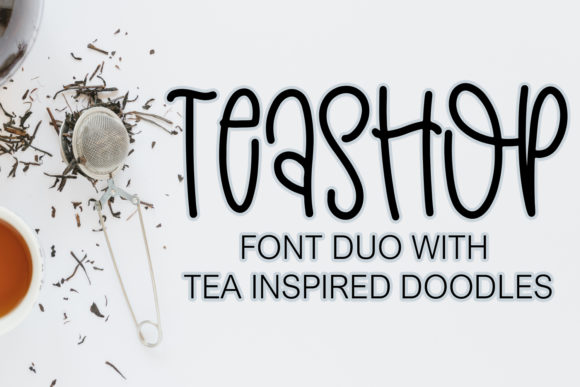Print on Demand: Teashop Display Font By freelingdesignhouse