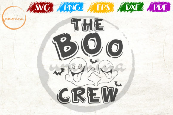 Download Free The Boo Crew Graphic By Uramina Creative Fabrica for Cricut Explore, Silhouette and other cutting machines.