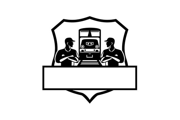 Download Free Train Engineers Arms Crossed Graphic By Patrimonio Creative for Cricut Explore, Silhouette and other cutting machines.