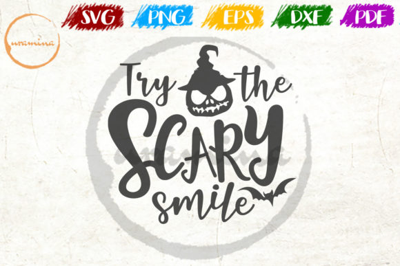 Download Free Try The Scary Smile Graphic By Uramina Creative Fabrica for Cricut Explore, Silhouette and other cutting machines.