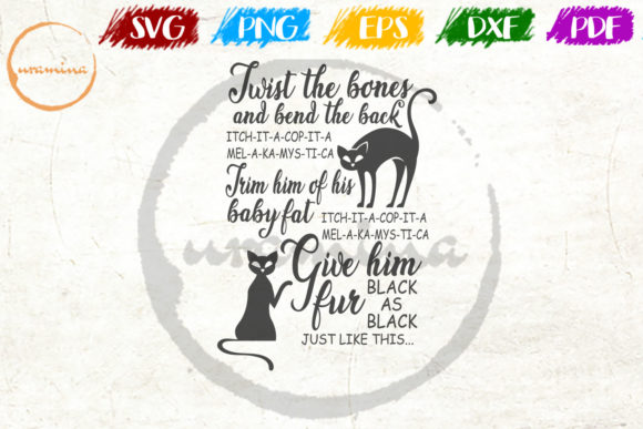 Download Free Twist The Bones And Bend The Back Graphic By Uramina Creative for Cricut Explore, Silhouette and other cutting machines.