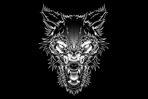 Vector Illustration Head Ferocious Wolf Graphic Illustrations By Epic.Graphic