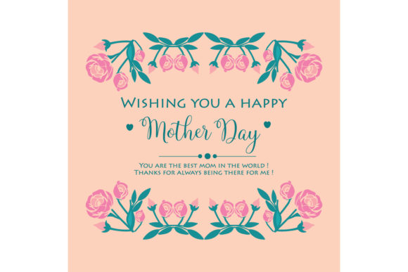 Download Free Wallpaper Design For Happy Mother Day Graphic By Stockfloral for Cricut Explore, Silhouette and other cutting machines.
