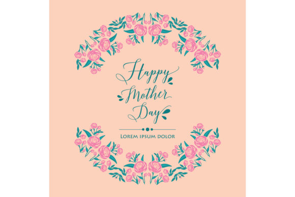 Wallpaper Design For Happy Mother Day Graphic By Stockfloral