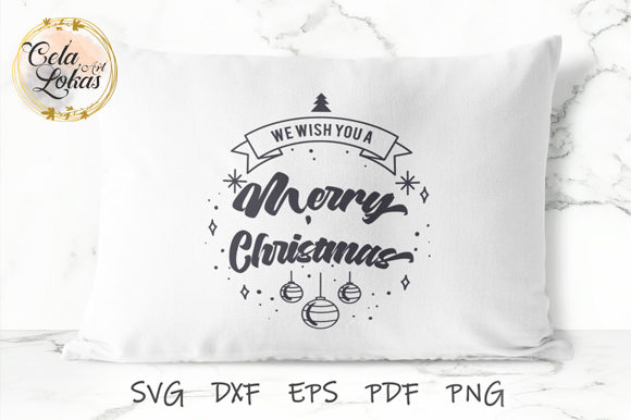 Download Free We Wish You A Merry Christmas Graphic By Celalokasart Creative for Cricut Explore, Silhouette and other cutting machines.